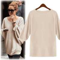 Casual Cuff Long Sleeve Loose Sweater