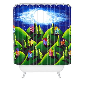Renie Britenbucher Green Peace on Earth Shower Curtain
