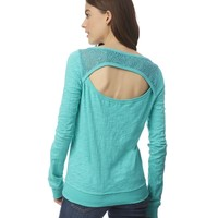 Open-Back Sweatshirt
