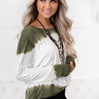 Realize Now Ombre Top (Olive)