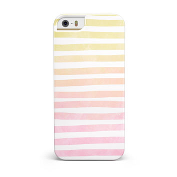 Gold to Pink WaterColor Ombre Stripes INK-Fuzed Case for the iPhone 5/5S/SE