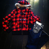 """Buffalo Plaid Fad"" Jacket"