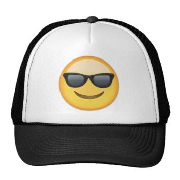 Smiling Face With Sunglasses Emoji Trucker Hats