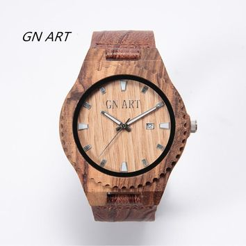 Mens Watch Wooden Classy Watches Solid Wood Gift for Men Relogio Masculino