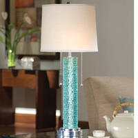 Regina Andrew Aqua Crystal Chipped Edge Lamp - 750-012