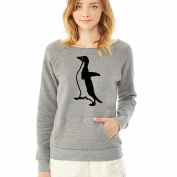 Socially Awkward Penguin ladies sweatshirt