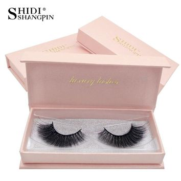 SHIDISHANGPIN 1 Pair mink eyelashes natural long 3d mink lashes 1 box false eyelashes hand made 3d false lash eyelash extension