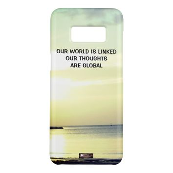 Global Photo Quote by Kat Worth Case-Mate Samsung Galaxy S8 Case