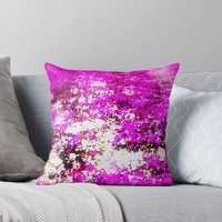 'Bed of Flowers' Throw Pillow by cjcphotography