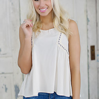 Close Enough Tank (Cream) - Piace Boutique
