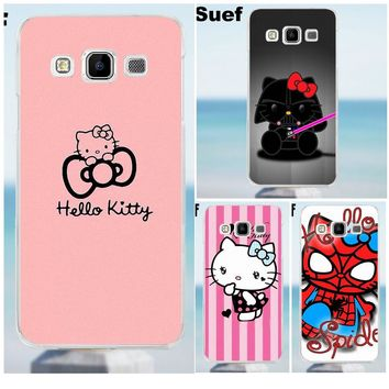 Cute Hello Kitty Minnie Cartoon Cat Soft Cell Case For Galaxy Alpha Core Prime Note 2 3 4 5 S3 S4 S5 S6 S7 S8 mini edge Plus