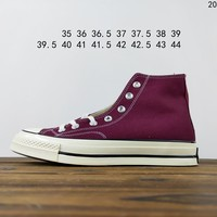 Kuyou Fa19630  Converse All Star 1970s Purple High Top Canvas Shoes