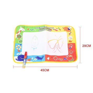 Magic Water Painting Rug Learning Doodle School Bag Mat