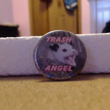 Trash Angel Possum 1.25 inch button