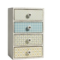Floral Chest Of Four Drawers