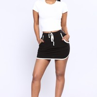 Always Mini Dolphin Skirt - Black
