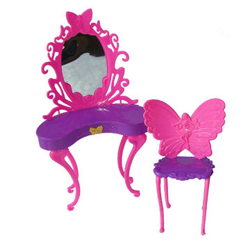 Birthday gift toys for baby girls play house toys Fairy butterfly dresser dressing table