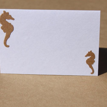 Seahorse Place Cards Beach Wedding Bridal Wedding by RoyalRegards
