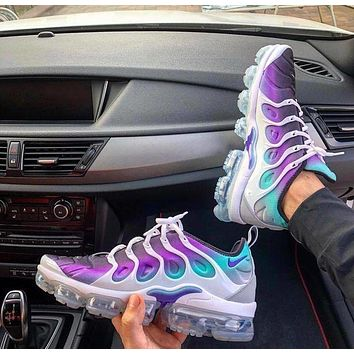 Nike Air Vapormax Plus Triple White Fashionable Women Men Personality Sport Running Shoes Sneakers I/A