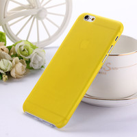 Translucent Slim Soft Plastic 0.3mm Ultra Thin Matte Yellow Phone Case Cover Skin for iPhone 6 6s