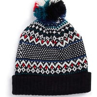 BIRDSEYE FAIRISLE BEANIE - Hats   - Shoes and Accessories