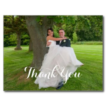 The Happy Couple Wedding Gift Thank You Post Card