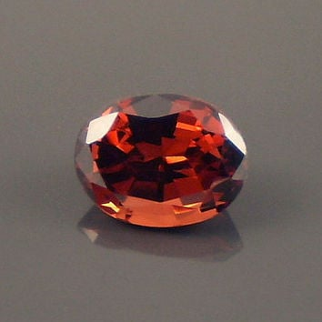 Malaya Garnet: 2.59ct Red Orange Oval Shape Gemstone, Natural Hand Made Faceted Gem, Loose Precious Mineral, Crystal Jewelry Supply 20213