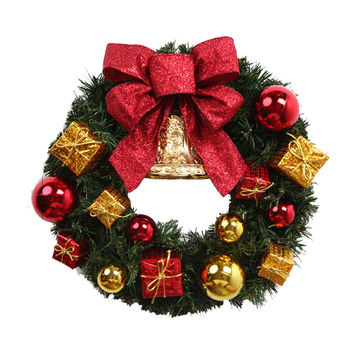 2016 New  Hotsale Christmas Decorations Door and Window Decorations Christmas wreath Luxury Merry Christmas Party Graland