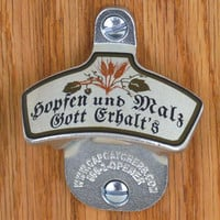 German Wall Mount Bottle Opener - German Bottle Cap Catcher - Beer Gift, Octoberfest
