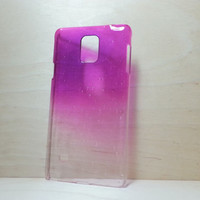 Samsung Galaxy Note 4 3D Water Droplets Hard Plastic Case - Purple