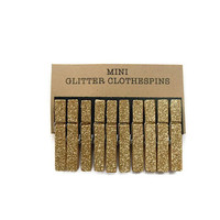 Mini Gold Glitter Clothespins. Set of Ten (10). Wedding Decor. Gold Glitter Clothespins. Party decor. Mini Clothespins.
