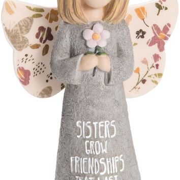 Sisters grow friendships that last forever Angel Figurine