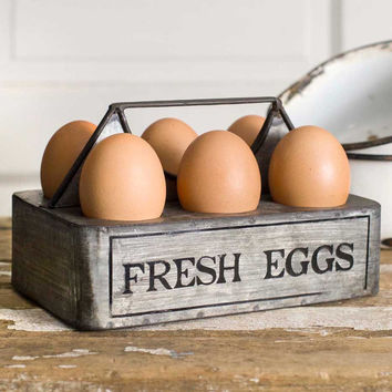 """Fresh Eggs"" Caddy - Set Of 2 - *FREE SHIPPING*"