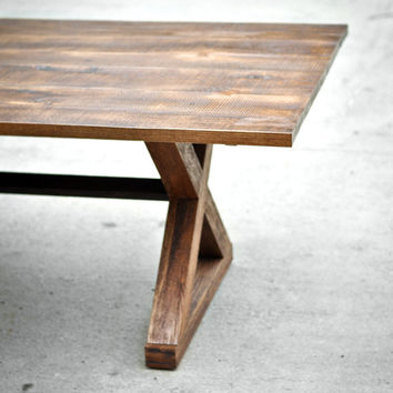 Reclaimed Wood Dining Table - The Kinzua - Custom Furniture
