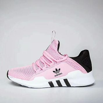 Adidas fashion new mesh running sports shoes women Pink