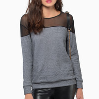 Nocturnal Mesh Sweater $28