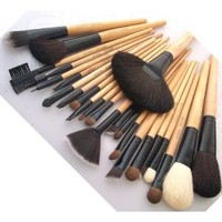 BOSTON WORLD Black 24 PCS Professional Makeup Brush Set Include Free Pouch: Everything Else