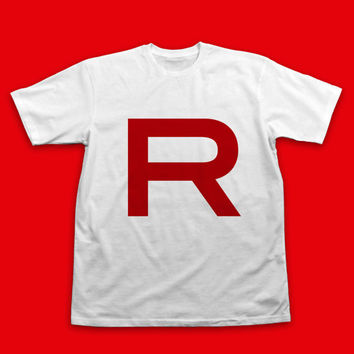 Team Rocket Pokemon Cosplay T-Shirt Team Rocket Shirt