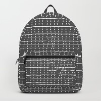 Broken Stripes & Dots Backpack by duckyb