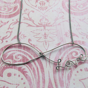 Love Always Silver Wire Necklace