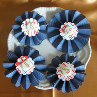 Paper Rosettes blue bingo card & markers for by ScrappyDoodads