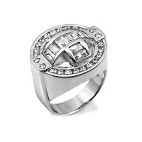 Liam's Baguette & Round Cut Cubic Zirconia Men's Ring - Final Sale