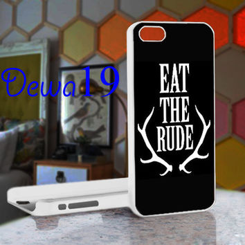 Eat the Rude Hannibal NBC For iPhone 4/4S, iPhone 5 / iPhone 5S / iPhone 5c and Samsung Galaxy S3/S4 Case/Cover