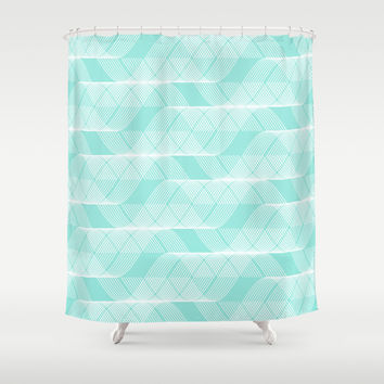 Helix Tiffany Blue Shower Curtain by Beautiful Homes