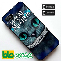 Alice In Wonderland, Cheshire Cats Iphone 5 Plastic Case