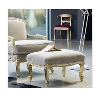 Chatsworth White Metal Foot Stool