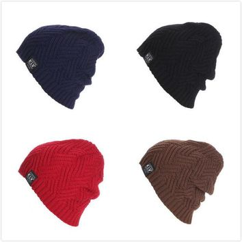 DCCK0OQ Ladies Knit Stripes Pullover Outdoors Skiing Hats [8895138951]