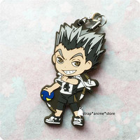 Haikyuu!! Anime Rubber Strap Keychain Phone Charm Bokuto Koutarou Free Shipping | Other Anime Collectibles | Japanese, Anime - Zeppy.io