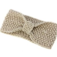Bestpriceam (TM) Fashionable Crochet Bow Knitted Winter Headband Ear Warmer (Beige)