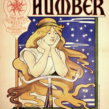 Advertising Humber Cycles Bicycles Bressler Henriette 1895